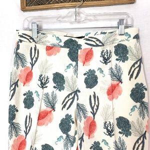 Zara Pants - Zara Basic Spain NWOT Floral Linen Slacks Pants L